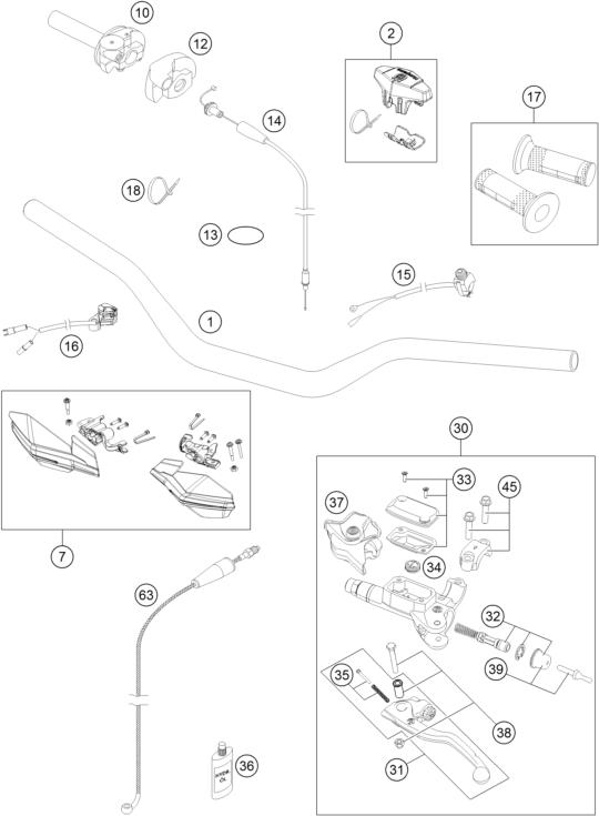 GUIDON ARMATURES TC 250 2015