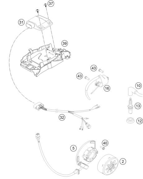 SYSTEME DE ALLUMAGE POUR TC 250 HQV 2014 (EU)