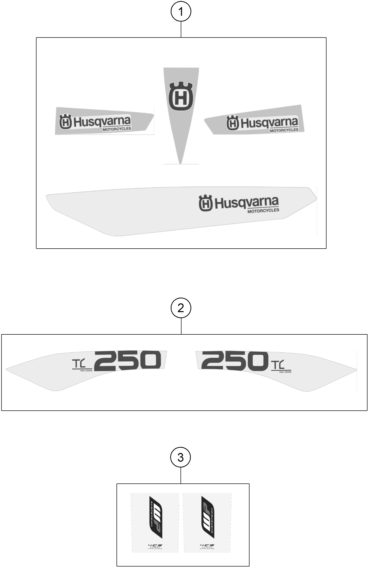 KIT DECO POUR TC 250 2015 (EU)