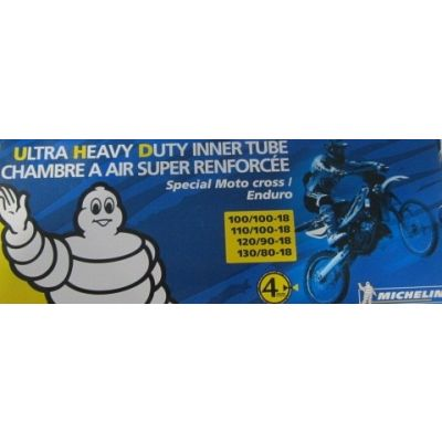 CHAMBRE A AIR MICHELIN ULTRA RENFORCE 100/100-18; 110/100-18; 120/90-18; 130/80-18
